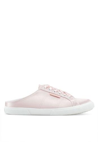 Superga pink Satinw Slip Ons 0ABD9SH7A6A34BGS_1