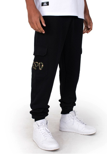 Reoparudo black and multi RPD Camo logo Print Sweat Pants (Black) CF1C9AA2F3CF55GS_1