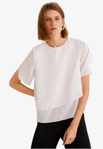 Mango 白色 層次上衣 7F4B3AA1C66E63GS_1