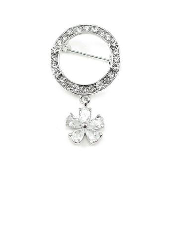 Glamorousky silver Elegant Brooch with Austrian Element Crystals 7632FAC3172AF9GS_1