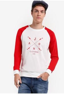 Jaxon Raglan Sleeve Sweatshirt .