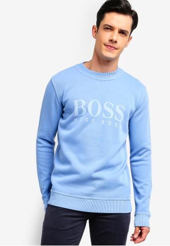 BOSS 藍色 LOGO棉T 419F4AAD259C4BGS_1