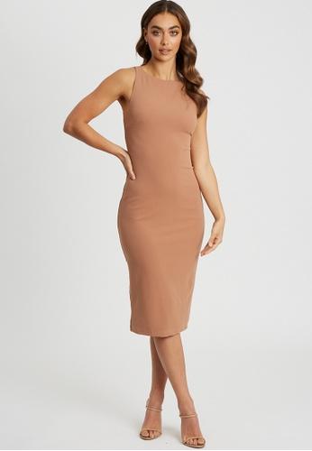 Tussah beige Maylee Midi Dress 91CF5AA557C431GS_1