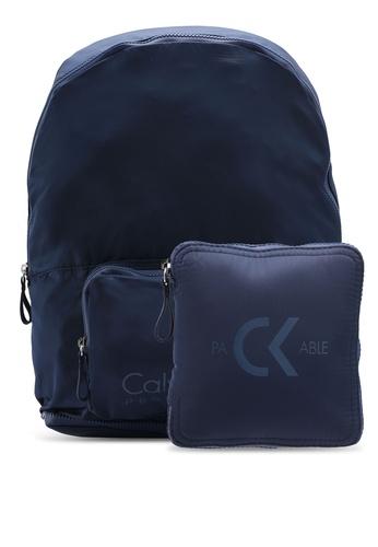Calvin Klein blue Packable Backpack - Calvin Klein Performance 5872AACD25DE08GS_1