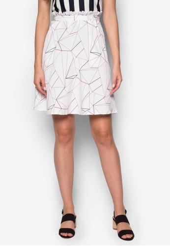 三角印花短裙, 服飾, esprit香港門市裙子