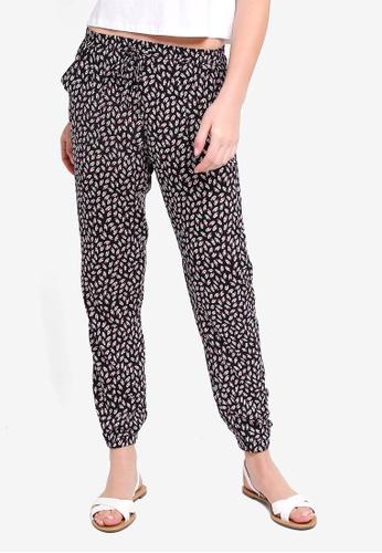 ZALORA BASICS black Basic Striped Jogger Pants C3D33AAA9DF495GS_1
