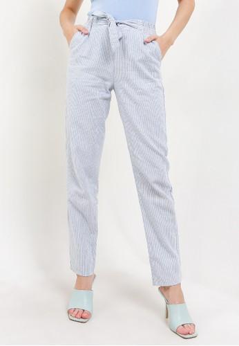 Giordano blue Women's Linen Long Pants B8878AA25AC9F1GS_1
