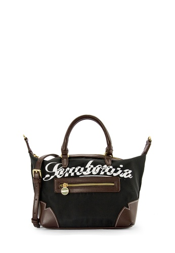 SEMBONIA black SEMBONIA Nylon Trimmed Leather Satchel Bag (Black) A0A05ACB7458A2GS_1