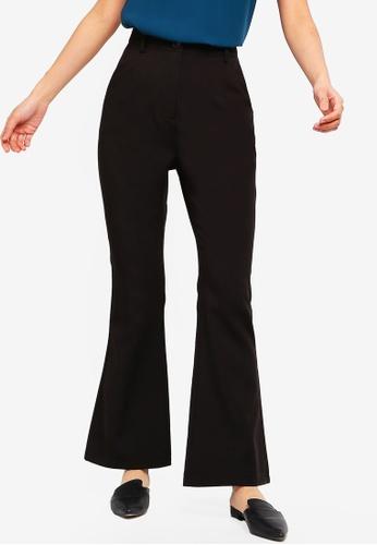 ZALORA BASICS black Basic High Waisted Flared Pants 9BB49AAFDAAB45GS_1