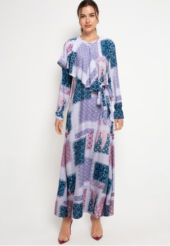 Covering Story purple Patery Dress - B BC7EFAA4F317A7GS_1