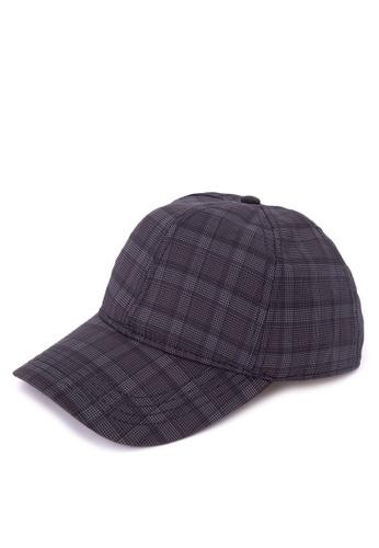 Topman blue Check Curve Peak Cap TO100AC0J9JRPH_1