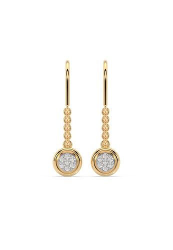 HEBE gold Sustainable Diamond  Clip Earrings C1F3AAC55DB2A2GS_1