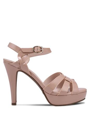 prettyFIT beige Patent Platform High Heel Sandals 11039SH9C460E0GS_1