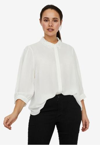 Vero Moda white Dorthe Shirt Curve 58AA9AA0568224GS_1