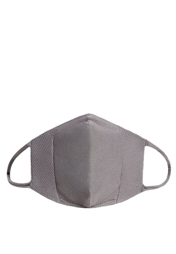 Mango grey Reusable Homologated Knit Facemask BD1DAES61957E0GS_1