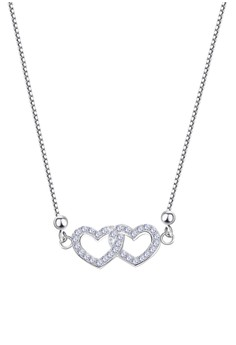 Heart Stone Center Chain Necklace