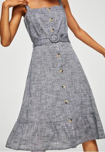 Jual Mango Belt Midi Dress Original | ZALORA Indonesia