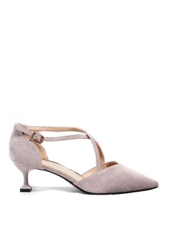 Twenty Eight Shoes 紫色 尖頭絨面高踭鞋6208-1 561E5SHA115B10GS_1