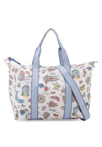 Cath Kidston white Summer Time Foldaway Overnight Bag F4373ACB859416GS_1