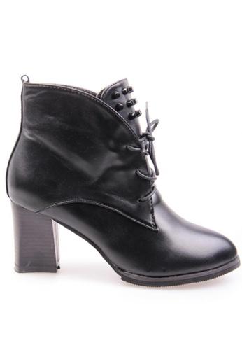 Sunnydaysweety black Big Sale Item - Black Stylish Imitation Leather High Heel Boots S101405 SU219SH0FAKTSG_1