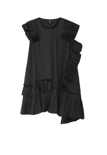 Twenty Eight Shoes black VANSA Irregular Pleated Midi Dress  VCW-D1111 895E5AA41C0555GS_1