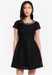 ZALORA black Mini Dress With Embellishments 668D3AA4AF7134GS_1