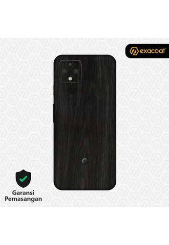 Exacoat Google Pixel 4 Skins Wood Series - Wood Ebony 5FBD7ES4EBE4BBGS_1