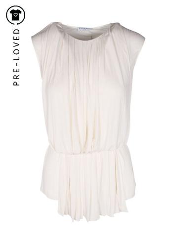 Vionnet white Pre-Loved vionnet White Silk Draped Top D99BDAADBB3894GS_1
