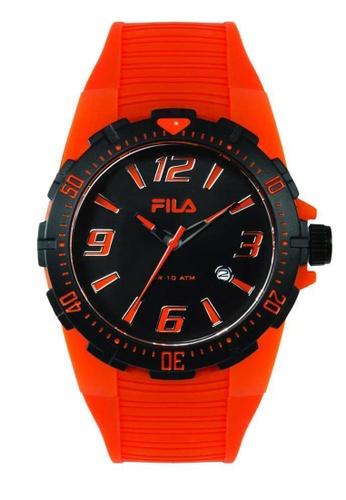 FILA Watches orange Fila Black and Orange Rubber Watch CD949AC12DDD60GS_1
