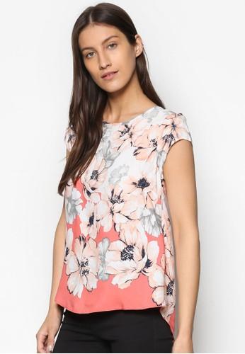 背部開叉印花層次T-shirt、 服飾、 服飾Wallis背部開叉印花層次上衣最新折價