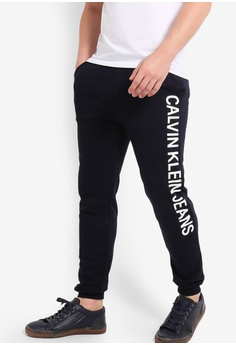 722916bd9ef1a Calvin Klein navy Institutional Side Logo Pants - Calvin Klein Jeans  6179CAA3C6F238GS 1