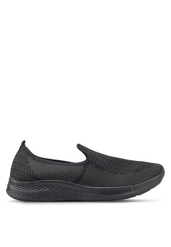 Spiffy black Light Knit Sneakers E45A8SHA09291EGS_1