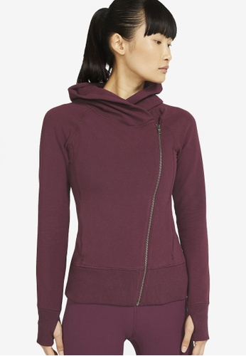 Nike red AS Women's Nike Yoga STMT Essential Fitted Full-Zip Hoodie F2E12AA7D66633GS_1