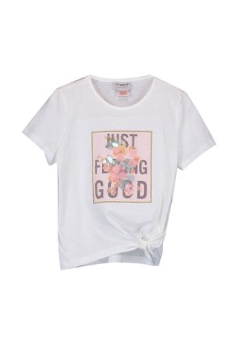 LC Waikiki white Girl's Printed Cotton T-Shirt 13458KADCAACD5GS_1