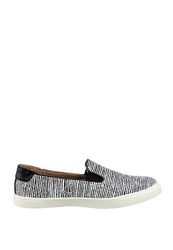 London Rag black Black and White Slip-On Sneakers D1513SHCFD2FB0GS_1