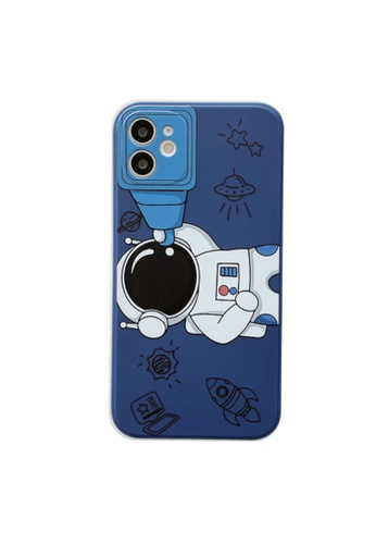 Kings Collection blue Astronaut Telescope iPhone 12 Case (KCMCL2397) 04A78AC0AA7E7EGS_1