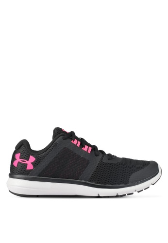 Under Armour black UA W Fuse FST Shoes UN337SH0SU9SMY_1