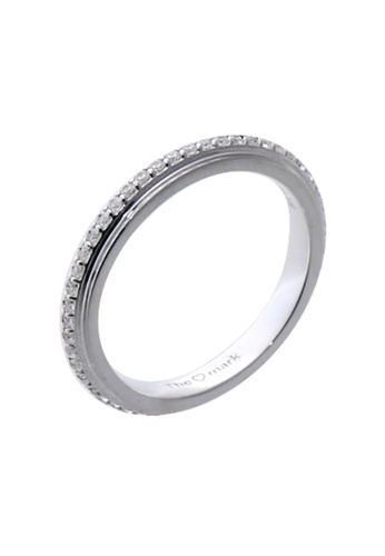 The LoveMark silver Matte Eternity Ring with Artificial Diamonds for Women lr0012f TH516AC31VGEPH_1