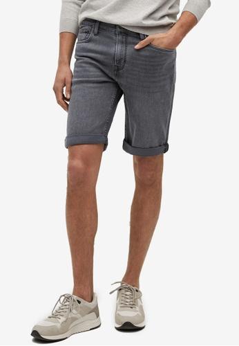 MANGO Man grey Dark Grey Denim Shorts AE0B0AAA6B2B5BGS_1
