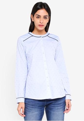 ESPRIT blue Woven Long Sleeve Blouse 7F3C9AA6FFB950GS_1