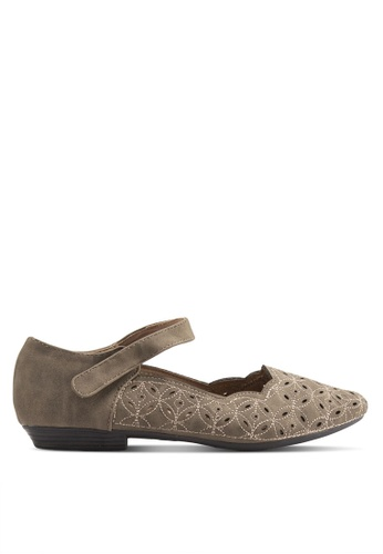 Louis Cuppers brown Flats With Ankle Strap LO977SH37BDQMY_1