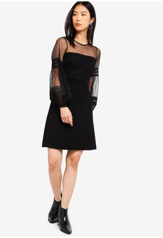 d56a468e094 30% OFF French Connection Paulette Jersey Puff Sleeve Dress HK  1