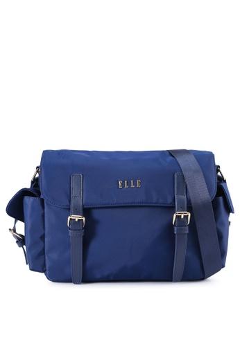 ELLE 藍色 Jojoe 斜背包 FF73FAC0455A15GS_1
