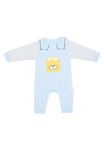 MICK + MARTY blue Cat Design Onesie 349B9KA9A560F7GS_1