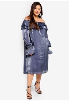 b0ce895ef05 Plus Size Sukie Iridescent Bardot Dress 451E8AAE9B271CGS 1