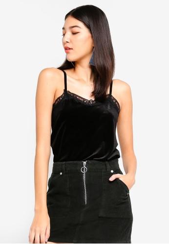 JACQUELINE DE YONG black Sandy Lace Singlet 004E9AAED43A72GS_1