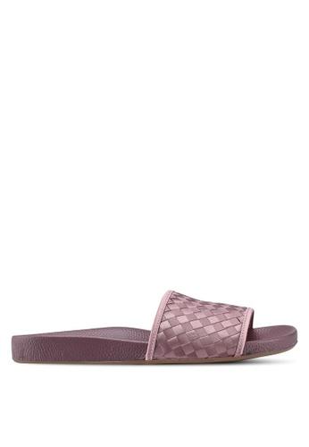 TOPSHOP 紫色 編織拖鞋 7F2CFSH106C2CBGS_1