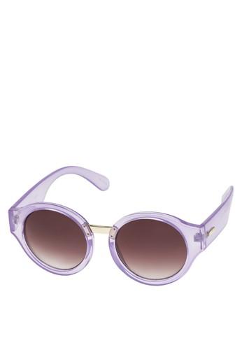 透明圓框太陽esprit 鞋眼鏡, 飾品配件, 復古框