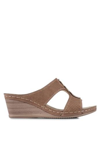 Louis Cuppers 褐色 楔形涼鞋 B7681SH90F4D4FGS_1