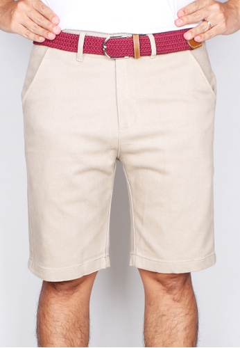 Moley grey Men Brushed Cotton Twill Bermudas 04CCFAA453EFA0GS_1